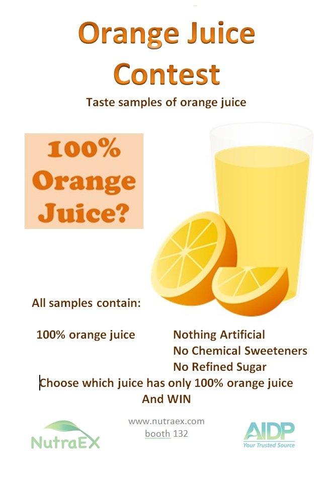 Orange Juice Contest Poster